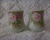 Vintage Salt & Pepper Shakers Roses Lefton