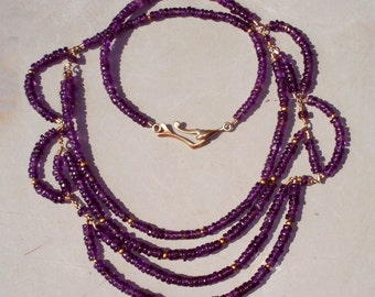 Tiered Amethyst Necklace