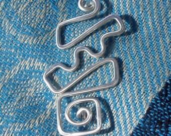 Sterling Sweater Clip Fibula Brooch, Scarf, Shawl, or Kilt Pin