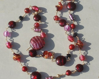 Sparkling Venetian Glass Berries Necklace