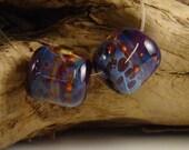 LBL Lampwork Glass Boro Beads (2) - Royal
