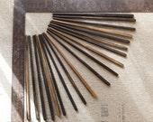 hand carved ebony chop sticks, rustic chopsticks