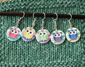 SET Fancy Owl Stitch Markers