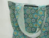 Tote Turquoise White - Shoulder Bag