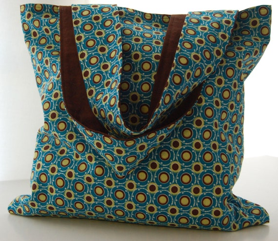 Tote Blue Brown - Shoulder Bag