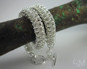 Snake Chainmaille Bracelet - a.k.a. Roundmaille - Sterling Silver Chainmail - Ready to Ship - 10% loaned through Kiva.org