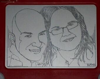 Custom Etch a Sketch Portrait