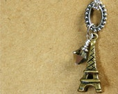 Eiffel Tower Necklace, Paris, France, Free Gift Box