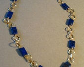 SALE -- Fatboy Lapis Lazuli and Gold Necklace