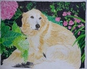 Golden Retriever Memorial Watercolor Portrait You Provide The Picture or Idea Made to Order 9 x 12 inch by Shannon Ivins Pigatopia