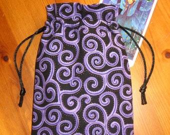 Purple Scrolls Padded Tarot Bag
