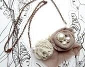 Reserved for Jennifer - Floral necklace