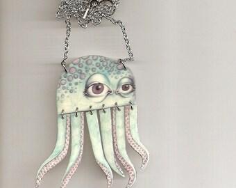 Aqua Octopus Necklace