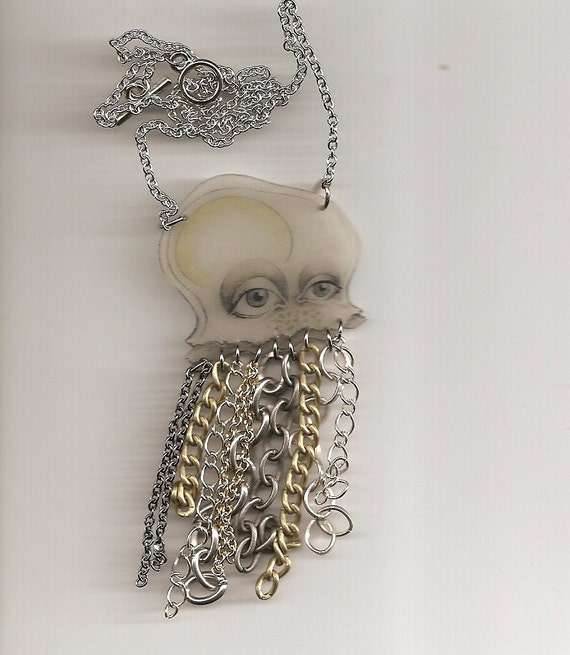 Jellyfish Necklace with Chain Tentacles