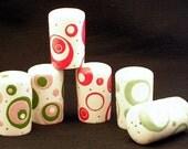 Salt and Pepper Shakers. Salt. Pepper. Shakers. Circles. Dots. Condiment. Handmade by Sara Hunter