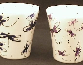 Mugs. Dragonfly Mug. Dragonfly. 12 oz. Handmade by Sara Hunter Designs