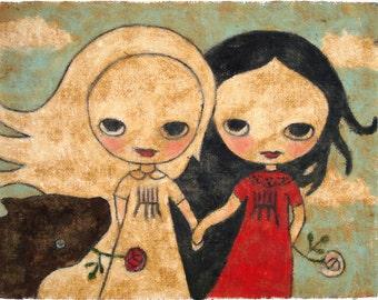 Snow White, Rose Red - print