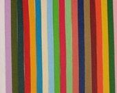 3/8 SOLID grosgrain ribbon LOT 31 colors 1 yd. ea.