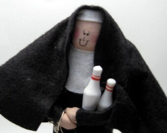 Nun doll Catholic keepsake bowling loving sister - Nun to Spare