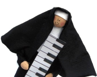 Nun doll Catholic gift-piano teacher Sister Mary Melody