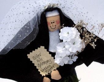 "Nun Doll Decoration religious Catholic Keepsake Gift 'Sister Holy Matrimony""--the Wedding Planner"