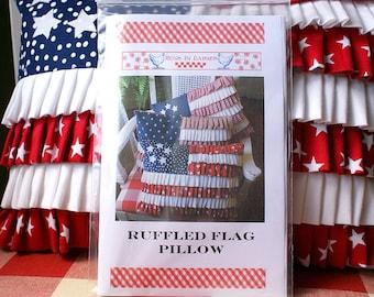 Ruffled Flag Pillow Pattern PDF no shipping