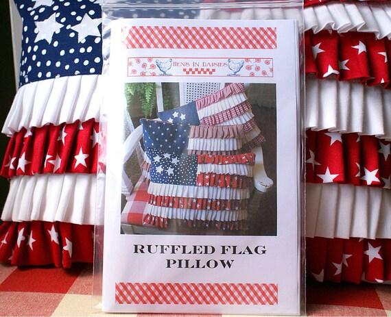 Ruffled Flag Pillow Pattern