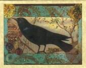 Vintage Raven Card