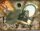 Old ferris wheel card