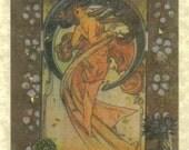 Auburn Goddess Mucha Card