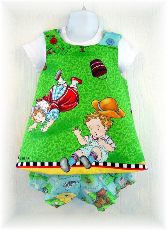 Boutique Pinafore Dress Bloomer Top 3 piece Set 18M to 2T