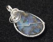 Sterling Silver Wrapped Yowah Opal-Bright Blue Fire-