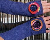 FREE SHIPPING Tubeway Armies Arm Warmers - Mauve with Stacked Circles