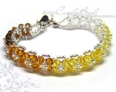 Crystal Bracelet, Yellow Shade Swarovski Bracelet by CandyBead