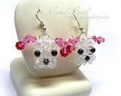 Puppy Swarovski Crystal Earrings (E025-01)