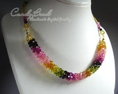 Luxurious Swarovski Crystal Tourmaline Necklace by CandyBead (N008-17)