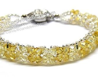Bright Light Topaz Swarovski Crystal Bracelet by CandyBead