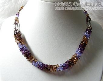 Swarovski necklace, Luxurious Coco Blueberry Swarovski Crystal necklace by CandyBead