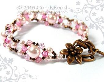 Rosy Pink Swarovski Pearl Bracelet by CandyBead - Best seller