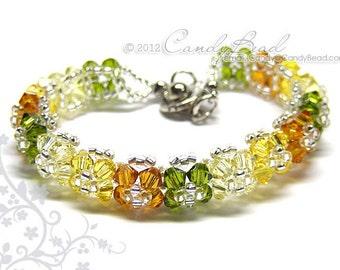 Crystal Bracelet, Autumn Shade Swarovski Bracelet by CandyBead