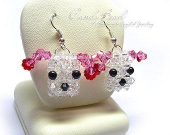 Swarovski earrings;crystal earrings;Puppy Swarovski Crystal Earrings (E025-01)