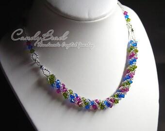 Swarovski Necklace, Berry Twisty Swarovski Crystal by CandyBead (N004-17)