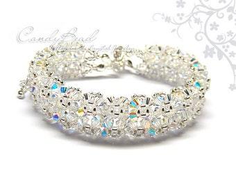 Snow Ice Swarovski Crystal Bracelet by CandyBead