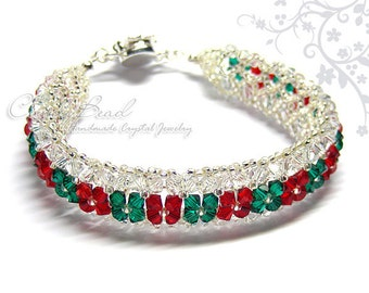 Xmas Swarovski Crystal Bracelet by CandyBead