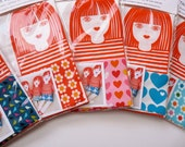 Scandi style screen printed retro 'Tilda' rag doll kit by Jane Foster