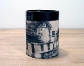 Cup with Barn Print
