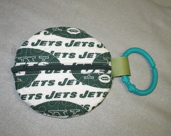 Paci Pouch - Paci Pod - New York Jets - Pacifier clip - READY TO SHIP  - Pacifier holder - pacifier pod