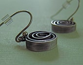 Hand-forged Sterling Silver Spiral Dangle Earrings