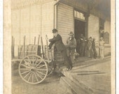 On Reserve for Nick!  Rare Antique Old West Photograph Unloading a Wagon Late 1800s - Awesome Iconic Image