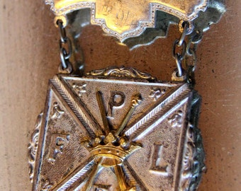 Fantastic Antique Badge Medal for the Order of the Pythian Sisters - Women's Fraternal Order 1890s 1900s